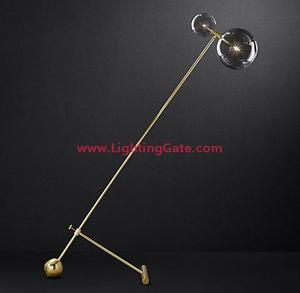 GLASS GLOBE MOBILE BOOM FLOOR LAMP