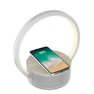 F2 10W Wireless charger led light with bluetooth speaker
