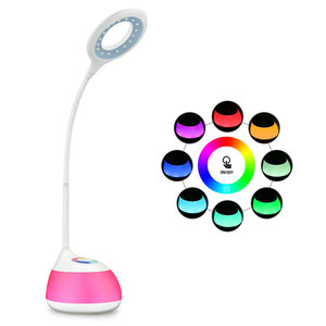 C11 LED desk lamp with RGB light