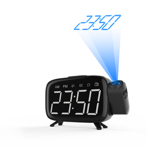 D12 FM Radio Projection Alarm Clock